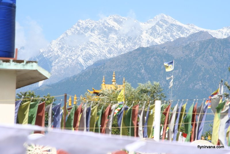 A view of the snowy peaks of the Dhauladhar range can be viewed on a clear day