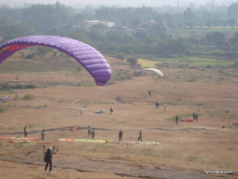 Nirvana Adventures paragliding training session