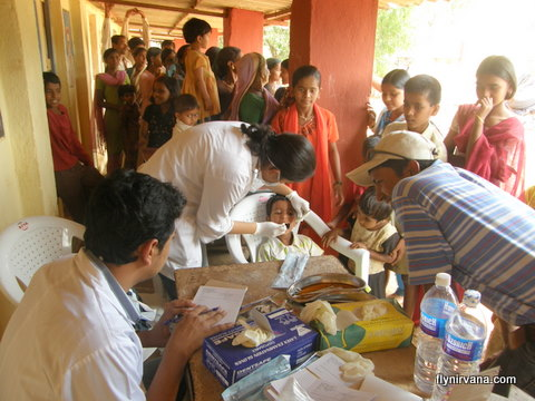 Nirvana hosts a dental camp at Kamshet