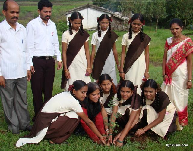 Nirvana adventures tree plantation at Kamshet