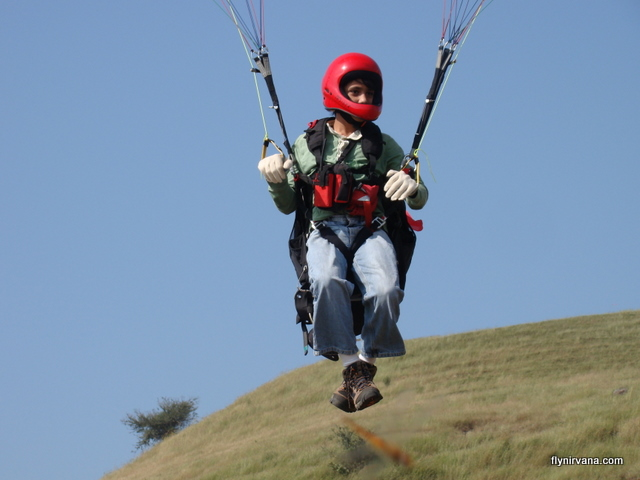 Sunith Rao's first paragliding flight