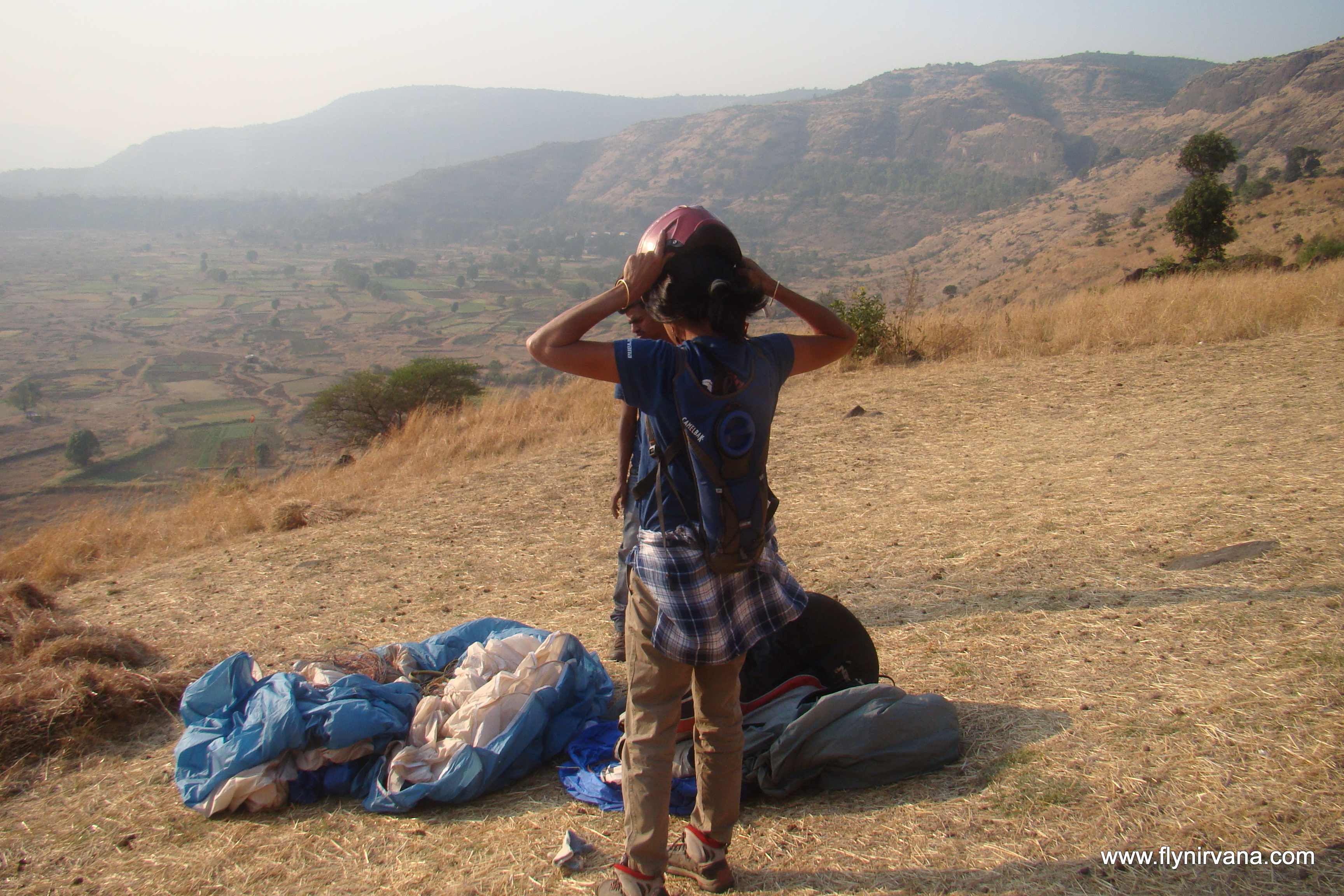 Ready to takeoff - Astrid Rao at the Shelar Site, Kamshet