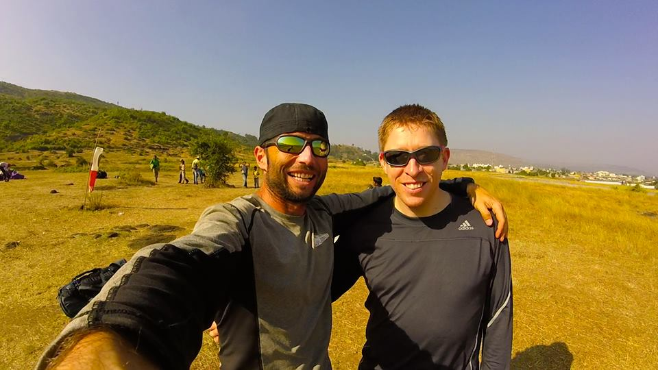 Meeting old friends on the hill - at Nirvana Paragliding Club, Kamshet
