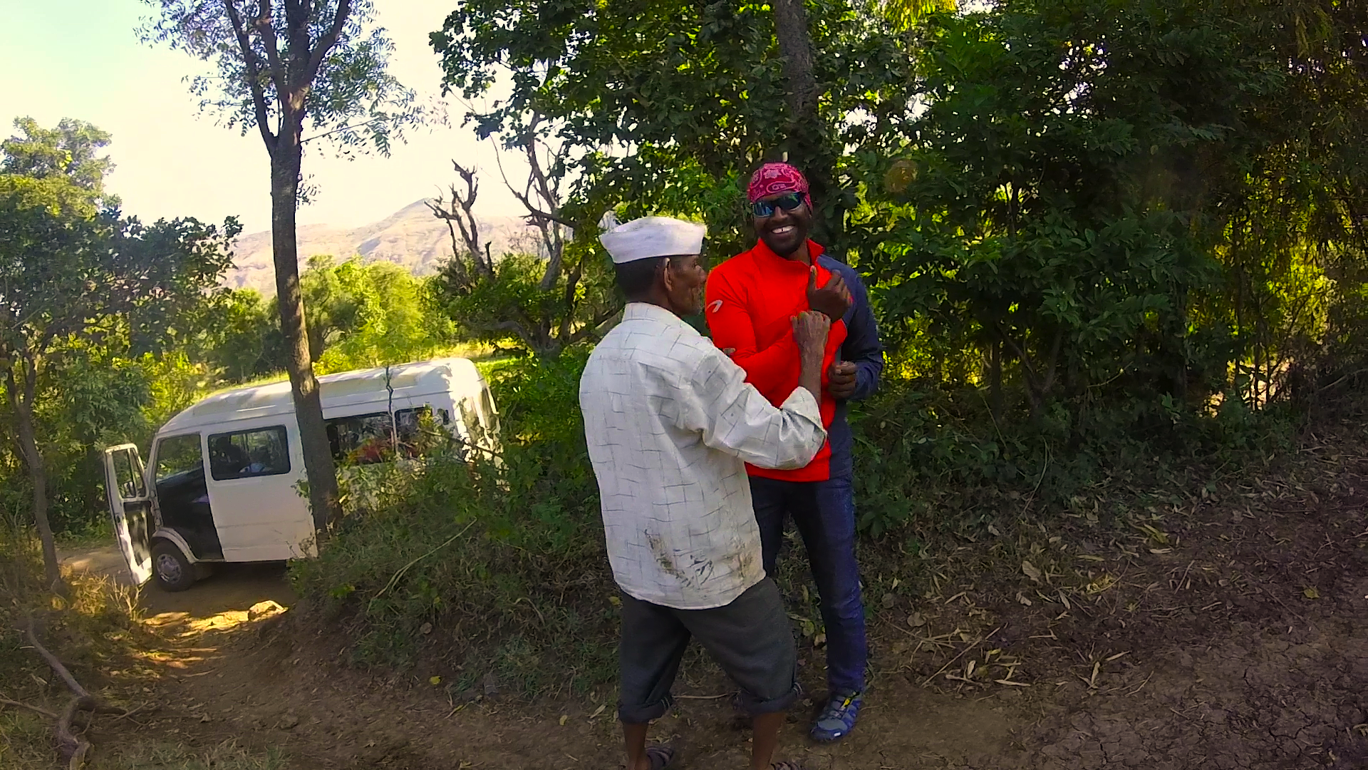 Farmer and Pilot - Ravi Shelar negotiates landing issues with a smile.