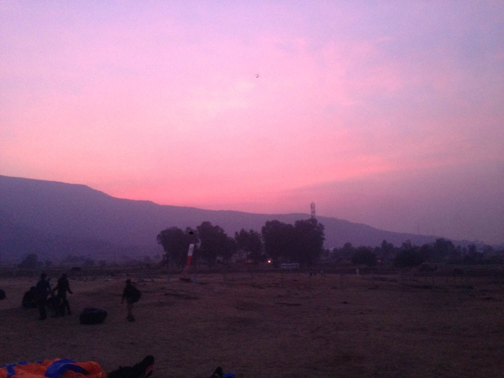 Sunset at the Tower Hill Paragliding site