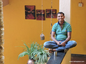Vinod flashes his signature smile at Native Place