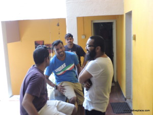impromptu conversations and camaraderie in the corridors