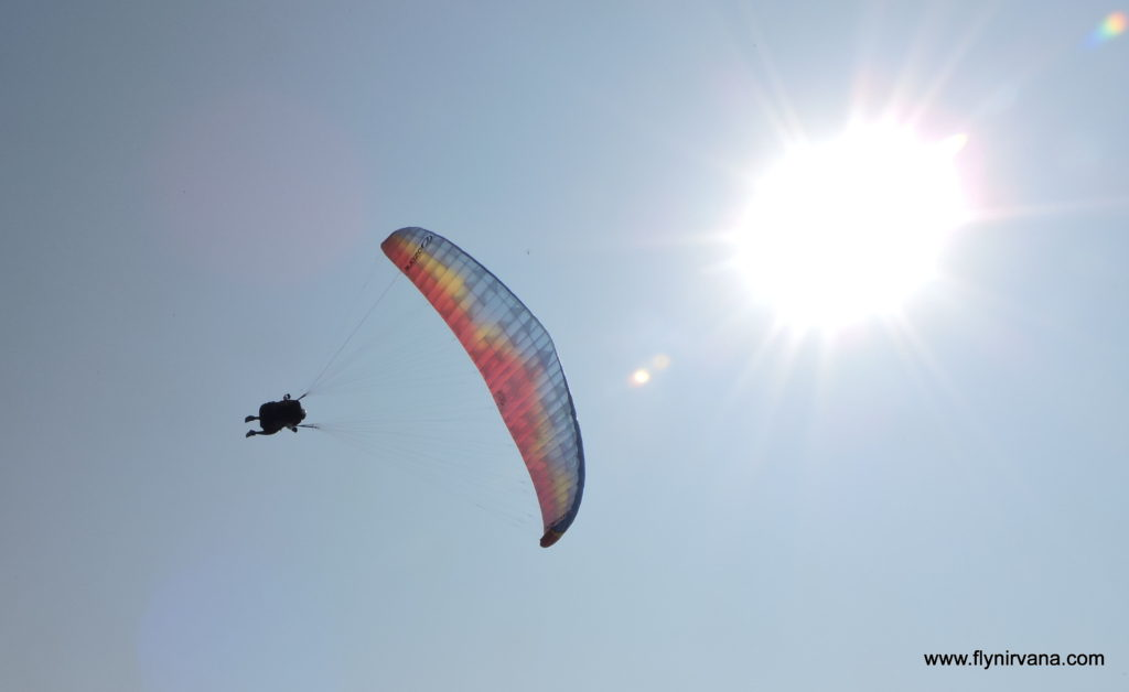 Tower Power - Paraglider in the sun