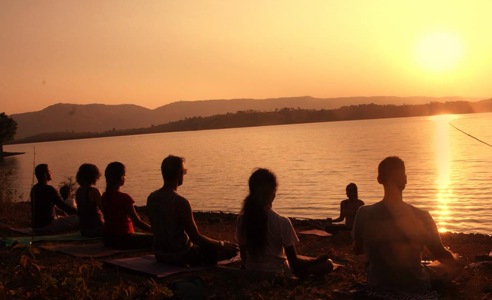 Sunset Yoga at Native Place, Kamshet